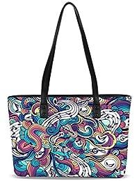 Borsa da passeggio da donna donne alta cima borsette in cuoio Unicorn  stampe Cartoon ragazze Messenger 297753b4603