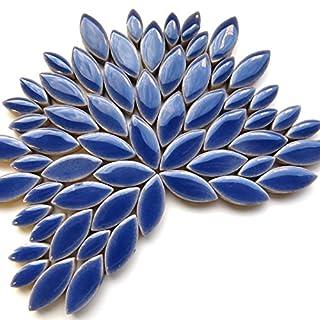 Craft Mosaic tiles - Petal Pack - 50g Glazed Ceramic - Delphinium