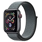 ANBEY für Apple Watch Armband 38mm 40mm 42mm 44mm, Geeignet für iWatch Apple Watch Serie 4, Serie 3, Serie 2, Serie 1, Nylon Sportschlaufenband Ersatzarmband Grey 38/40mm