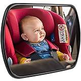 CARTO Baby Spiegel für Babyschalen, drehbar, 16,8 x 10,5 cm, einfach zu montieren– inklusive 2 Jahre Geld-zurück-Garantie –– Für ein rundum gutes und sicheres Gefühl