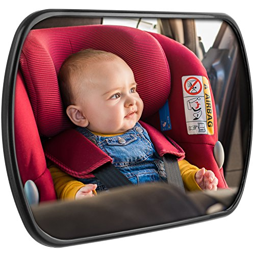CARTO Baby Spiegel für Babyschalen, drehbar, 16,8 x 10,5 cm, einfach zu montieren– inklusive 2 Jahre Geld-zurück-Garantie –– Für ein rundum gutes und sicheres (Passt Ostern)