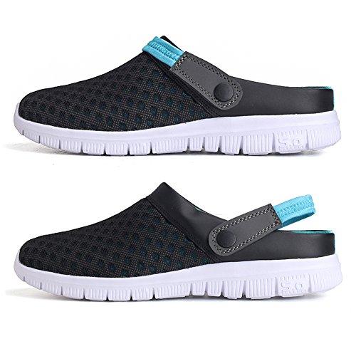 Eagsouni® Unisex Clogs Hausschuhe Muffin unten alltägliche Drag Pantolette Sommer Beach Schuhe Sandalen Blau