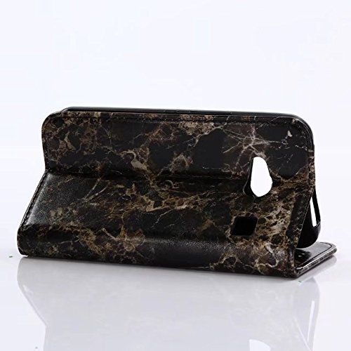 YHUISEN Kyocera Rafre KYV40 Case, Marmor Stein Muster Textur PU Leder TPU Inner Flip Wallet Schutzhülle mit Card Slot / Stand für Kyocera Rafre KYV40 ( Color : Pink ) Black