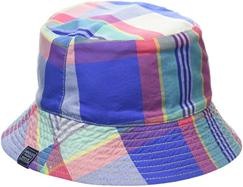 Tom Joule Joules Jungen Mütze Brit, Multicoloured (Dazzling Blue Check), Large