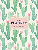 Weekly Planner 2018-2019: Cactus Design   Jul 18 - Dec 19   18 Month Mid-Year Weekly View Planner Organizer with Motivational Quotes + To-Do Lists (Weekly View Planners)