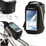 Comodissima borsa porta oggetti per bici con spazio trasparente per interagine con il proprio smartphone ( adatto fino a display da 5,5), l'istallazione è compatibile con tutti i tipi di bici grazie alle chiusure con velcro regolabile, comodi...