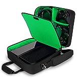 USA Gear Custodia Compatibile Con Xbox One/Xbox One X Borsa da Viaggio per Console, Controller, Giochi e Altro con Tracolla Regolabile, Tasche Portaoggetti e Interni Personalizzabili - Verde