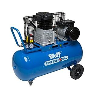 Wolf Dakota 90 Litre, 3HP, 14CFM, 240v, MWP 150psi, 10BAR Twin Cylinder Pump Belt Driven Air Compressor