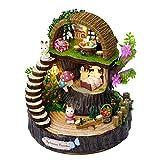 Achun DIY Spieluhr, Geschenk, Haus im Wald, Weihnachtsspieluhr für Kinder und Frauen