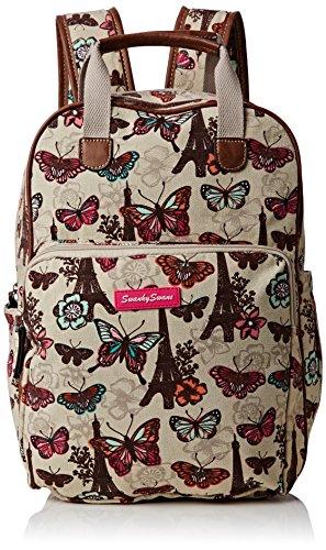 SwankySwansNoel Paris Butterfly Essex - Borsa zaino donna Beige (Beige (Beige))