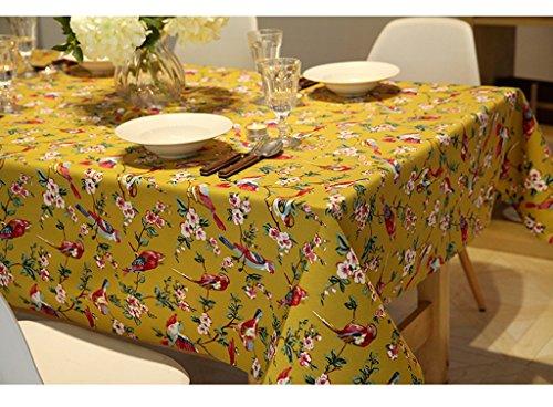 (Retro amerikanischen Stil Blumen und Vögel Tischtuch Couchtisch Tischdecke Western Tischdecke Stoff ( größe : 90*140cm ))