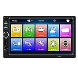 Auto Stereo 1 Din MP5 Spieler Bluetooth Freisprecheinrichtung Autoradio 7-Zoll 800 * 480 HD 1080P Auto Video Player Auto Bildschirm AUX Eingang Auto Gerät mit Fernbedienung (mit Kamera)