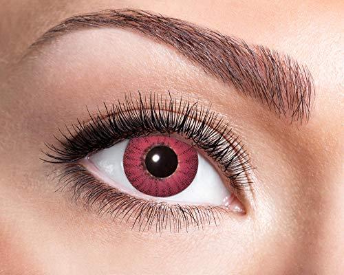 Schwarz Kostüm Electro - Goldschmidt Kontaktlinsen Jahreslinsen mit Sehstärke Dioptrien Halloween Qualitätsprodukt (Electro red, -1,5)
