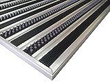 Aluminio Profesional Felpudo para sistema HD40, tamaño 110x 68cm, para empotrada Alfombrilla de instalación en así, incluyendo matwell Marco., Negro