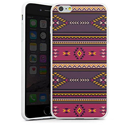 Apple iPhone X Silikon Hülle Case Schutzhülle Ethno Indianer Azteken Muster Silikon Case weiß