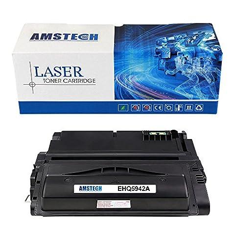 Amstech compatible toner Q5942A Q1338A Noir Cartouche de toner replacement pour HP LaserJet 4200 4200n 4200tn 4200dtn 4200dtns 4200dtnsl 4300 4300n 4300tn 4300dtn 4300dtns 4300dtnsl 4240 4250 4250n 4250tn 4250dtn 4250dtnsl 4350 4350n 4350tn 4350dtn 4350dtnsl 4345mfp Standard Yield (10000 Feuilles)