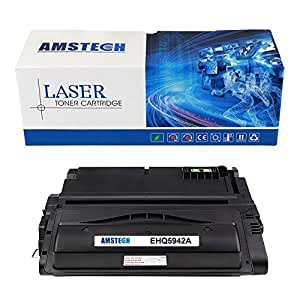 Amstech compatible toner Q5942A 42A Nero Cartridge toner replacement per HP LaserJet 4200 4200n 4200tn 4200dtn 4200dtns 4200dtnsl 4300 4300n 4300tn 4300dtn 4300dtns 4300dtnsl 4240 4250 4250n 4250tn 4250dtn 4250dtnsl 4350 4350n 4350tn 4350dtn 4350dtnsl 4345mfp, Standard Yield (10000 Pagine)