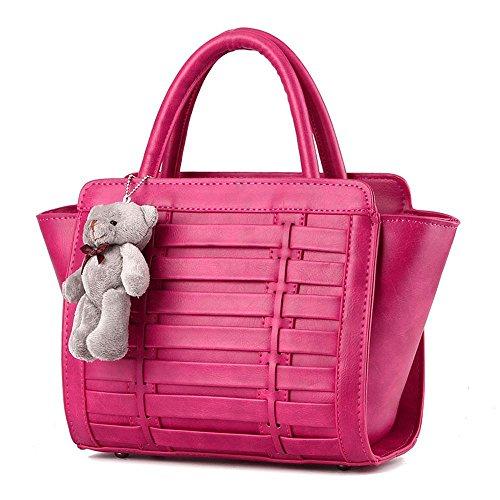 koson-man-womens-vintage-bear-decorate-sling-tote-bags-top-handle-handbagrosered