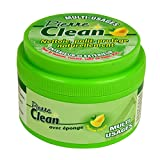 Pierre Clean 600g parfum citron avec éponge - Produit à base d'argile, appelé aussi Pierre Rénovante ou Pierre d'Argile, qui permet de nettoyer, polir, protéger naturellement votre intérieur et extérieur.