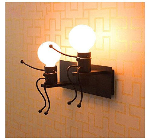 Lámpara para habitación infantil Apliques de pared vintage industrial E27 lámpara de...