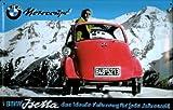 Blechschild BMW Isetta Motocoupe Berge Schild Werbeschild retro Nostalgieschild