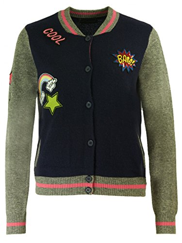 Princess goes Hollywood Damen Kaschmir Mix Bomberjacke mit Patches