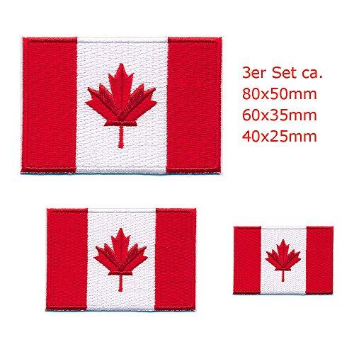 3 Kanada Flaggen Canada Flags Ottawa Alberta Patch Aufnäher Aufbügler 0646