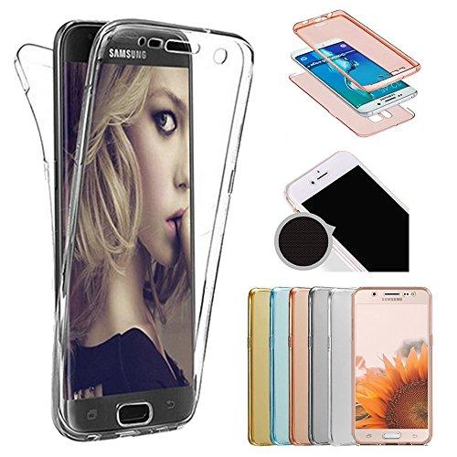 Sycode Galaxy S9 Plus 360 Grad Handyhülle,Galaxy S9 Plus Full Body 2 in 1 Hülle,Modisch Ultra Dünn Front Back TPU Silikon Gel Stoßdämpfend Transparent Beidseitiger Vorne und Hinten 360°Double Doppelseitig Weich Komplette Slim Fit Full Handy Tasche Transparent Klar Protective Schale Etui Case Cover für Samsung Galaxy S9 Plus-Durchsichtig
