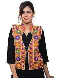 Banjara Women's Jacket (MJK-BHK03_Red_Free Size)