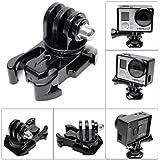 Fantaseal avancée 360 ° Rotary Buckle Clip pour GoPro Mont GoPro Buck clip de montage pour GoPro Hero 4 / Session / 3 + / 3/2 + SJCAM SJ6000 / 5000/4000 (2-Pack)