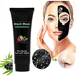 Three Trees Beauty Black Mask, Blackhead Remover Mask, Activated Charcoal Face Mask Peel Off Mask Deep Cleansing Facial Mask