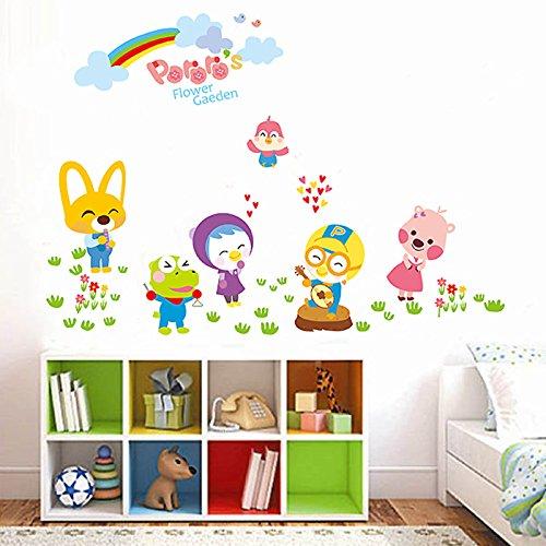 RUIPENGPENG Wandbild Zitat Aufkleber Aufkleber wasserdicht Abnehmbare für Wohnzimmer TV Hintergrund Kinder Baby Kinderzimmer Cartoon kleines Tier des Kindergartens Kinder Darsteller.
