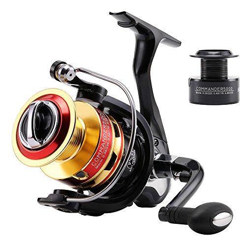 SKYSPER Carrete de Pesca spincasting 9 + 1BB rodamientos de Bolas Izquierda/Derecha Intercambiable Plegable manija Pesca Carrete Spinning