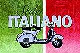Stile italiano scooter roller schild auch blech, metal sign, deko schild,