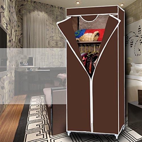 MMM& Petit placard Dortoir simple Armoires plus épaisses Étudiant pliantes Armoires Simple ( couleur : Café )