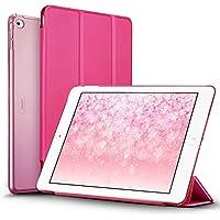 Custodia iPad Air 2 Smart Case Cover,ESR Clear Shell posteriore risveglio automaticamente / funzione di sonno per iPad Air 2 - Red Copertina