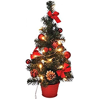 gravidus k nstlicher weihnachtsbaum geschm ckt mit led lichterkette 40 cm rot. Black Bedroom Furniture Sets. Home Design Ideas
