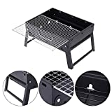 #4: Portable BBQ Tool Kits Barbecue Charcoal Stove Grill Folding for Outdoor Cooking Camping Hiking Picnics