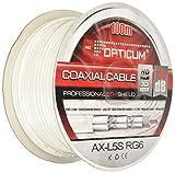 Opticum Koaxialkabel (135 dB, 5-fach geschirmt, RG6, 7,2 mm) weiß