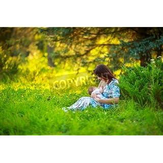 adrium Mom feeds the baby, breastfeeding, summer photos outdoor, infant feeding(44815220), Poster, 50 x 30 cm