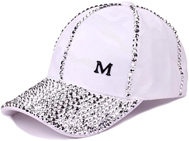 WY-scarf cappello da baseball Cap Cap Cap strass estate cappello da sole Prossoezione solare Sun, bianco cappello da sole... Parent fcdc1a