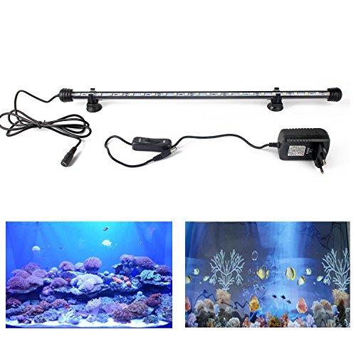 Éclairage pour aquarium lampe LED SMD5050- prise européenne 75cm - RGB/lumière bleu/blanc froid - étanche IP68