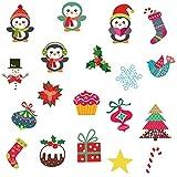 RALCAN Weihnachtsdekor Mini Aufkleber Niedlichen Pinguin Dekoration Kreatives Geschenk Für