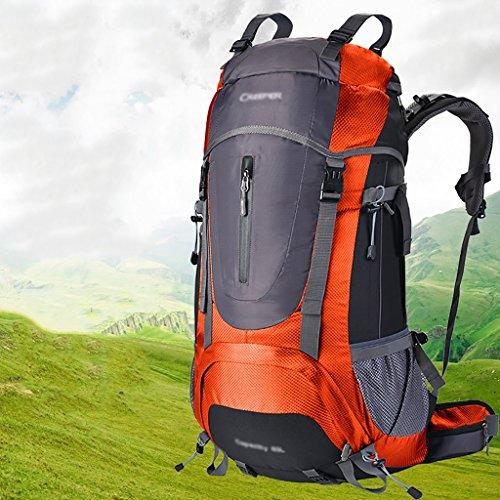 zaino trekking Sacchetto / sacchetto di spalla 60L di alpinismo maschio / femminile / zaino esterno impermeabile di viaggio di viaggio multifunzionale Zaini da escursionismo ( Colore : E , dimensioni  B
