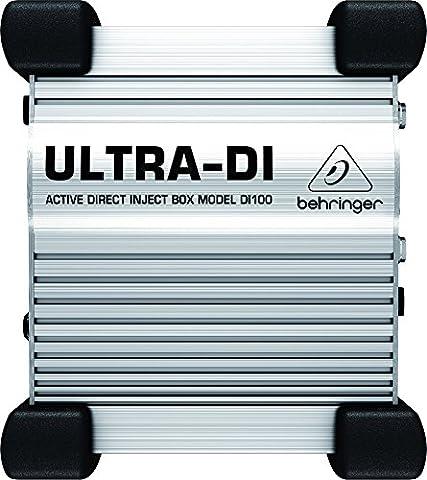 Behringer DI100 Ultra boîte à injection directe de scène/studio