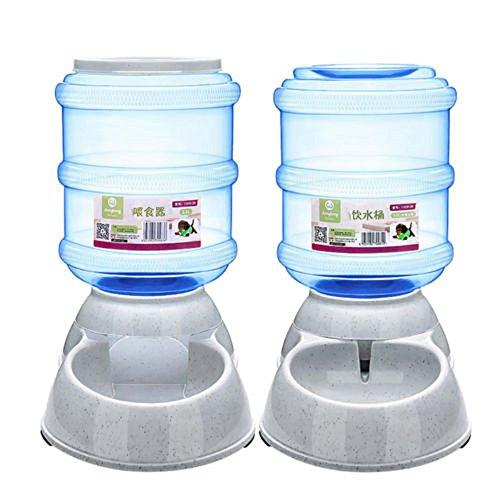 ED-Lumos Alimentador Automático para Mascotas Dispensador de alimento Agua para Perro Gato Plástico alimentario 3.5L