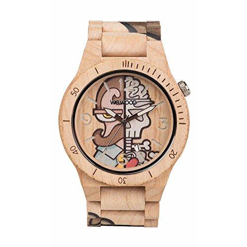 WEWOOD Reloj Analógico para Hombre de Cuarzo con Correa en Madera WW53002
