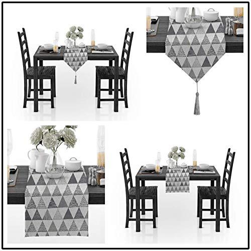 hen Stil Blume Tischtuch Party Hochzeit Dekoration Raised Flowered Damask Tischläufer D 30x160cm ()