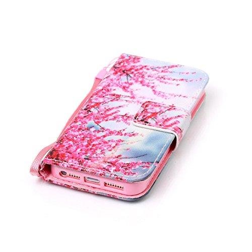 Coque iPhone SE, Étui en cuir pour iPhone 5s, Lifetrut [Cash Slot] [Porte-cartes] Magnetic Flip Folio Wallet Case Couverture avec sangle pour iPhone SE 5S [Prune] E208-Prune