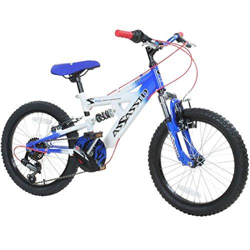 18 oder 20 Zoll Kinder Mountainbike Concept Assassin Fully 2 Größen 4 Farben vollgefedert